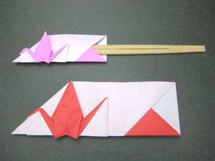 ハート 折り紙 折り紙 箸袋 鶴 : hoikuwill.me